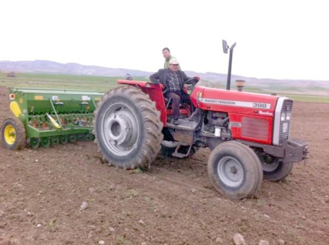 Çiftçiler aspir ekimine başladı