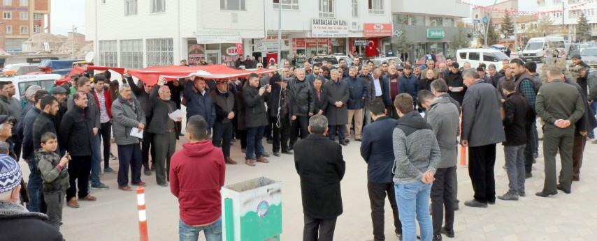 Afrine destek-Kızıl Elma yürüyüşü düzenlendi