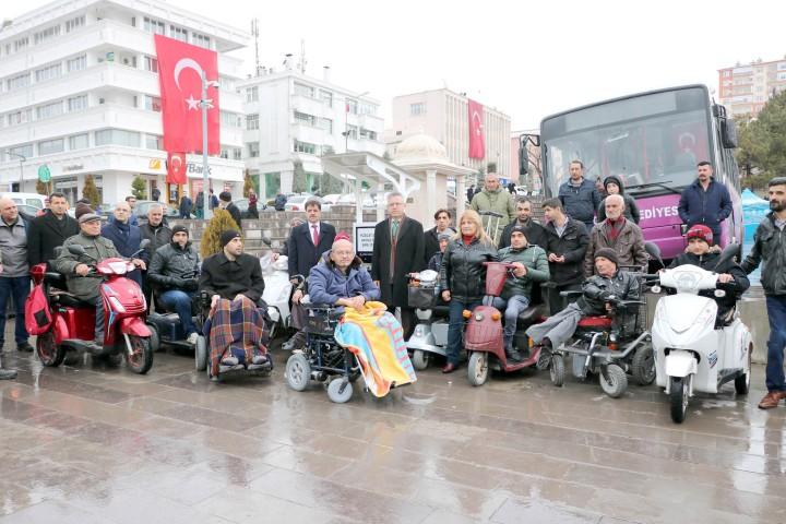 Engelli vatandaşlar için  şarj dolum istasyonu açıldı