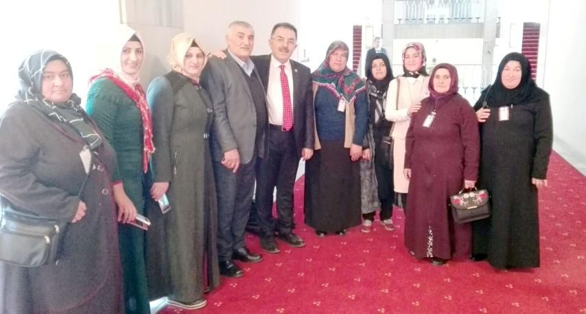 Deveci Havsası projesinde çalışan  kadınlar TBMM'sini ziyaret etti