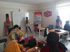 Gençler İngilizce öğreniyor