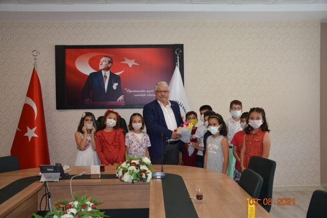 Öğrencilerden Yazıcı'ya ziyaret