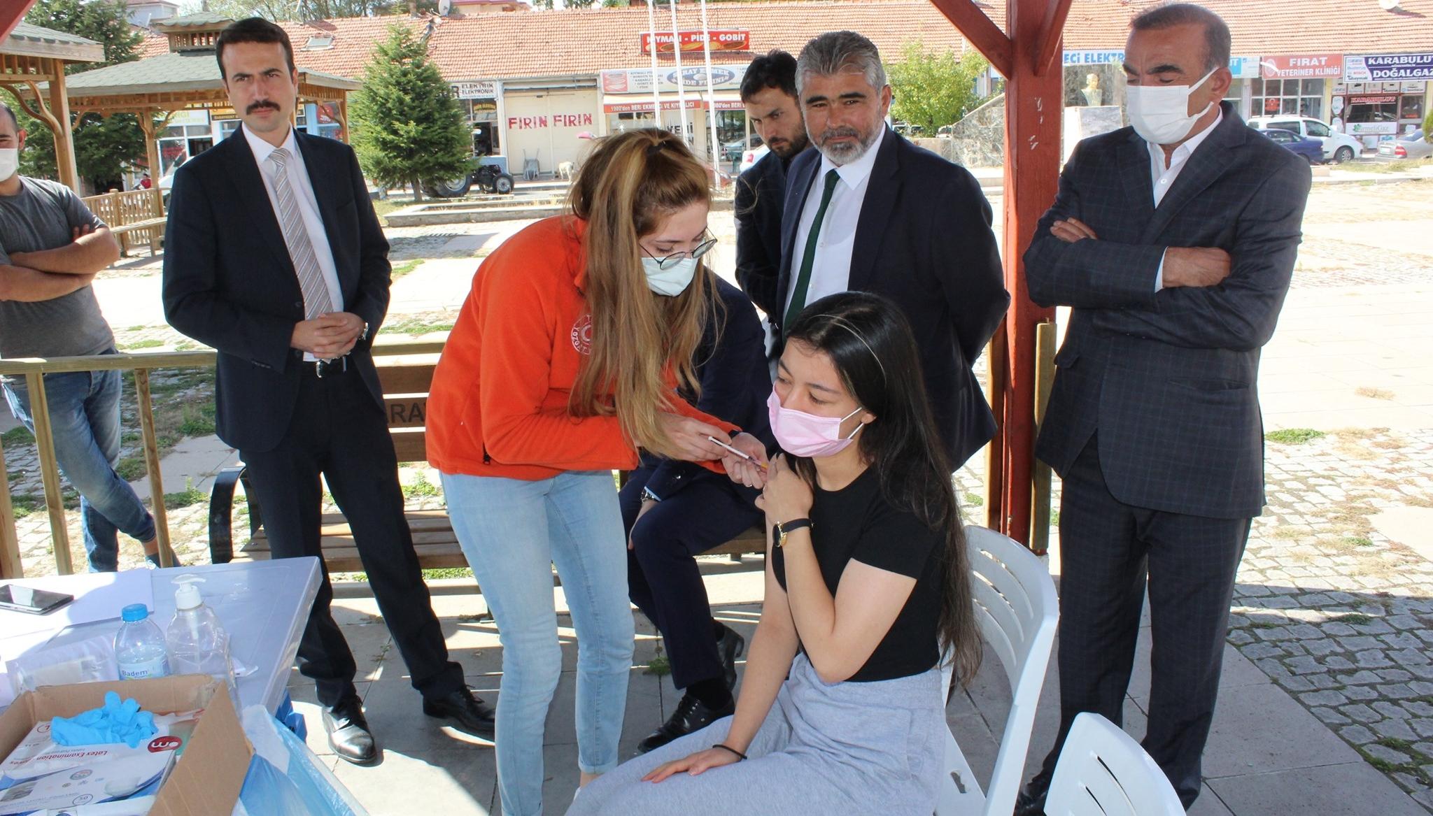 Saraykent'te aşıya ilgi artıyor