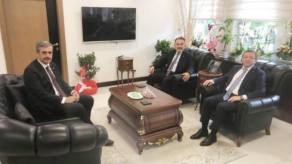 Vali Polat ve Başkan Köse'den Ertuğrul Soysal'a tebrik ziyareti
