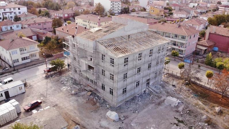 Halk Kütüphanesi  inşaatı devam ediyor